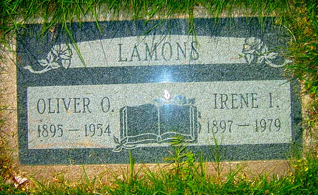 Irene and Oliver's tombstone