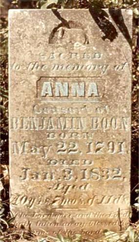 Anna (Winston) Boon Tombstone