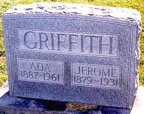 Graves of Ada (Davis) and husband, Jerome L. Griffith (d/o Thomas Jasper Davis and Tennie Tobinson)