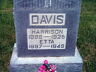 Harrison and Etta's Tombstone