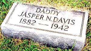 Grave of Jasper Neuton Davis - s/o Thomas Jasper Davis and Tennie Robinson