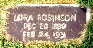 Grave of Lora Ester Robinson
