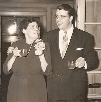 Mackie (Davis) and son, Albert J. Towar Jr (1951)