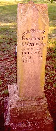Grave of Reuben P. Davis - s/o Solomon Davis and Anna Kelley