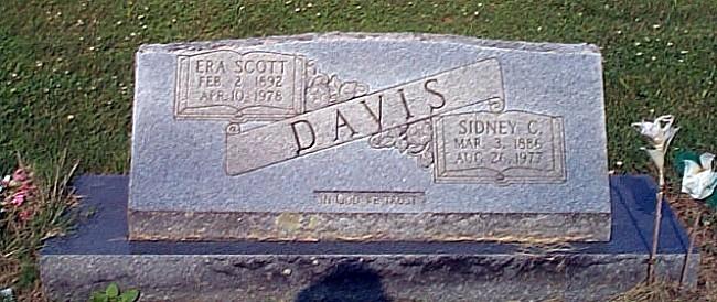 Graves of Sidney and Era Rose (Scott) Davis