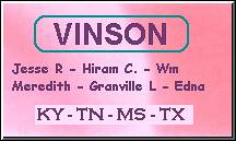 Click to view my Vinson Family pages