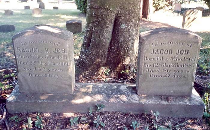 Jacob and Rachel Job Tombstones