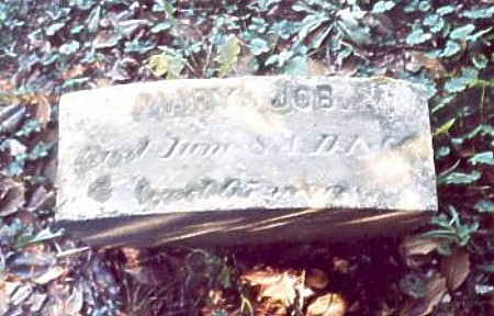 Mary Job Tombstone