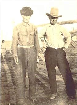 My great Grandfather - Caleb Jobe with his son, John Shelburn Jobe