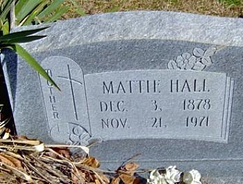 Mattie's Tombstone