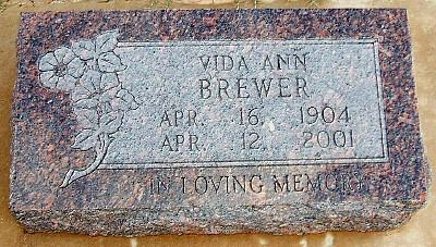 Vida's Tombstone