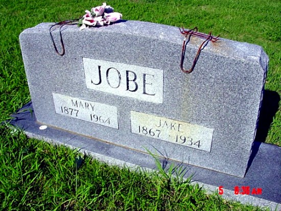 Jacob and Mary's Tombstone