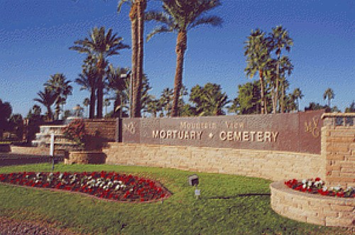Mountain View Cemetery Sign