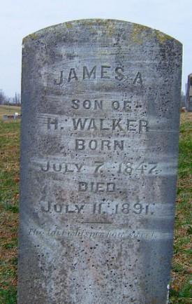 James A. Walker Tombstone