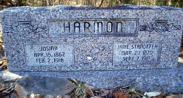 Josiah and Jane (Standifer) Harmon Tomb