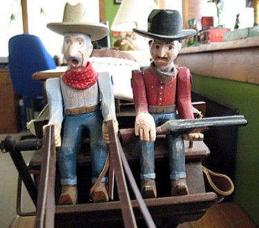 Stagecoach Drivers (close-up)