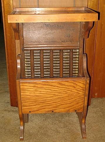 Washboard Telephone Stand