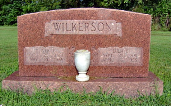Oliver and Lula (Morgan) Wilkerson's Tombstone