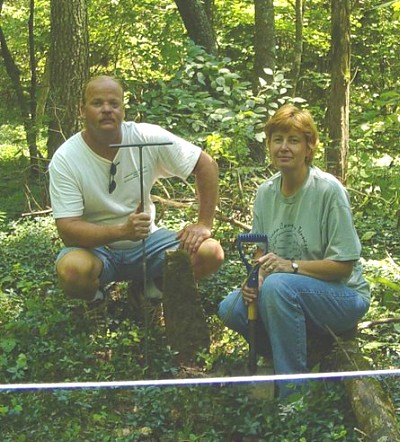 Randy and Donna at Jobe Cemetery