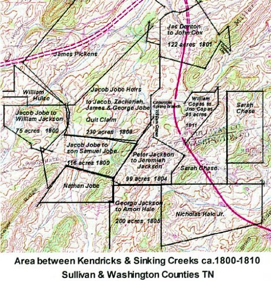 Kendricks Area 1800-1810