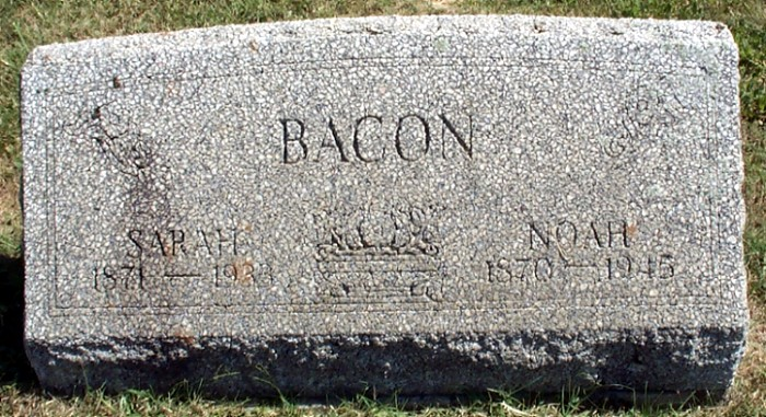 Noah and Sarah's Tombstone
