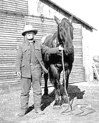 John Shelburn Jobe with Horse