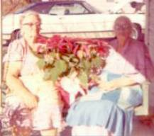 Grandma Jobe with Aunt Annie (Jobe) Spoon