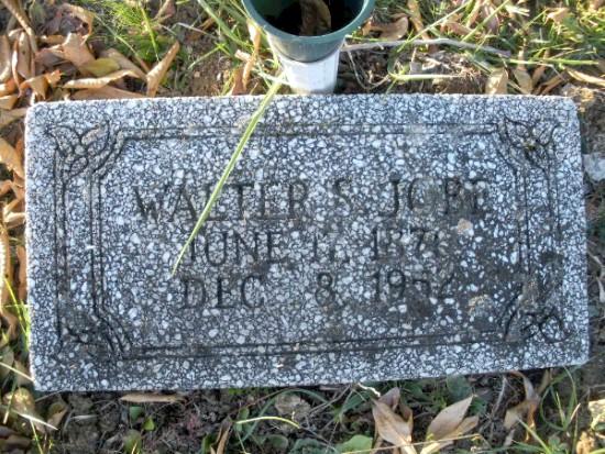 Walter Scott Jobe's Tombstone