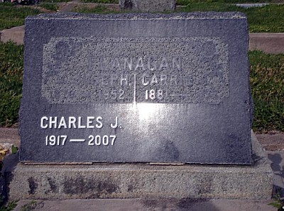 Carrie and Joseph and son Charles Tombstone