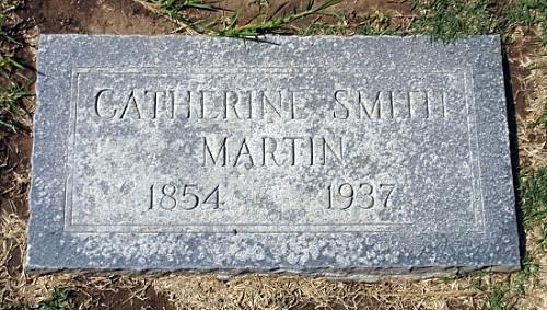 Sarah Catherine 'Kate' (Ogan) Smith Martin Tombstone