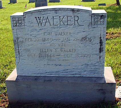Ellen and F. M. Walker's Tombstones