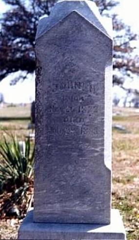John H. Jobe Tombstone