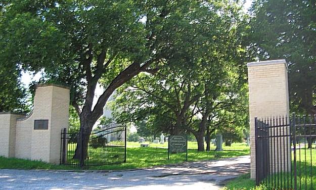 Pecan Grove Cemetery Entrance