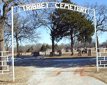 Tribbey Cemetery Entrance