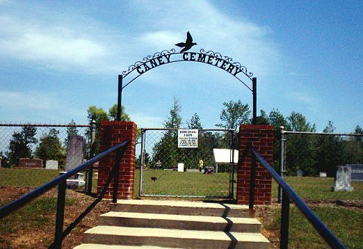 Caney Cemetery Entrance