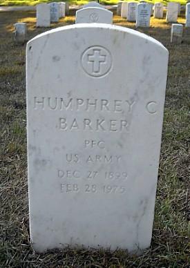 Humphrey C. Barker Tombstone