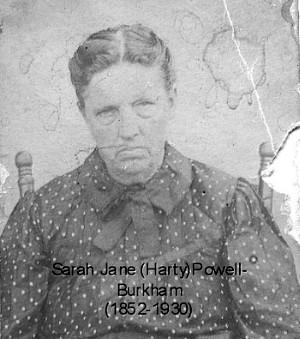 Sarah Jane (Harty) Powell Burkham