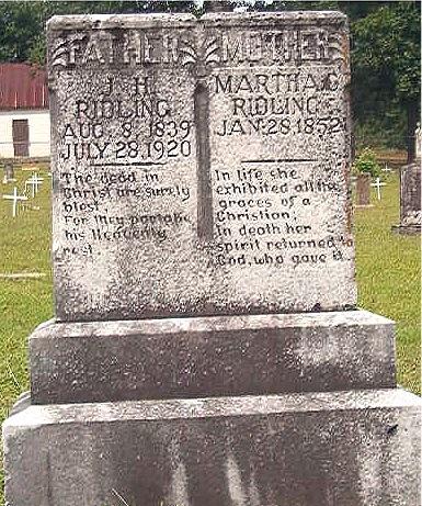 J. H. and Martha's Tombstone