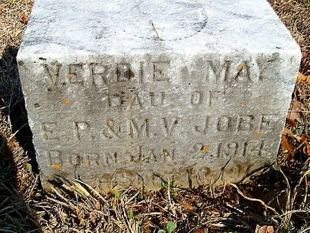 Verdie May Jobe Tombstone