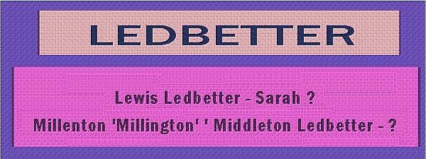 Ledbetter Ancestor Banner
