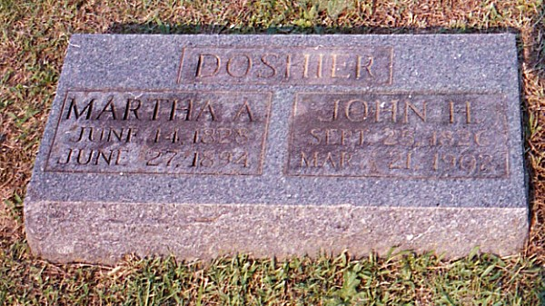 Martha and John Henry's Tombstone