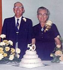 Vernon Page and Etta (Jones) - 1962 at 50th Wedding Anniversary