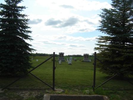 Gates to Barrett Cemetery