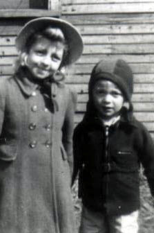 Ruth and Russ as kids