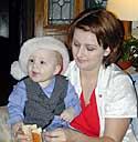 Nickki holding Hayden