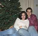 Natasia and Colin on Christmas eve