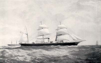 The S.S. Hibernian of the Allan Line, Image © and by kind courtesy of The Ships List