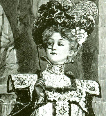 Image © and courtesy of Victorian Fashions and Costumes from Harper's Bazaar 1867-1898 by Stella Blum