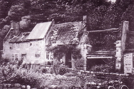 Mrs. Gray's Cottage, Coxbench, by F.W. Scarratt, Courtesy of Nigel Aspdin