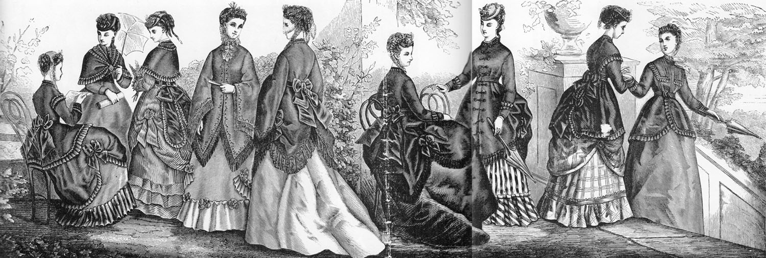 Image courtesy of Victorian Fashions and Costumes from Harper's Bazaar 1867-1898 by Stella Blum